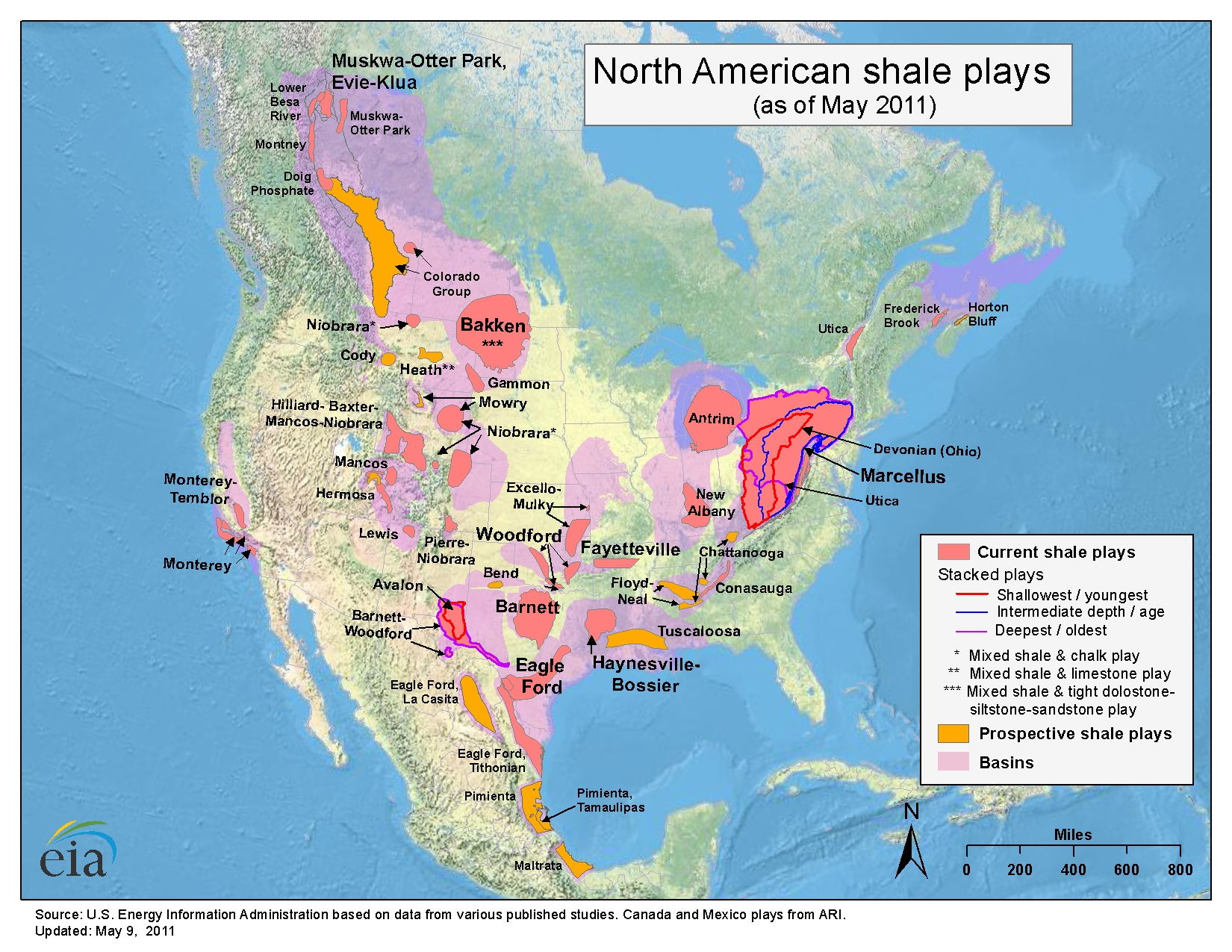 North American Shale Plays  Industrialized Cyclist Notepad