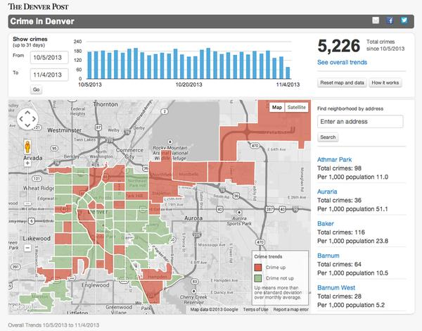 Denver Post crime map